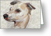 Fine Art - Animals Greeting Cards - Italian Greyhound Greeting Card by Enzie Shahmiri