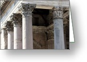 Ancient Rome Greeting Cards - Italian Pantheon Greeting Card by Luiz Felipe Castro