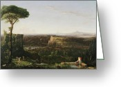 Cole Painting Greeting Cards - Italian Scene Composition Greeting Card by Thomas Cole