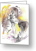 Italy Drawings Greeting Cards - Italian Sculptures 07 Greeting Card by Miki De Goodaboom
