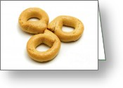 Pat Greeting Cards - Italian Taralli Greeting Card by Fabrizio Troiani