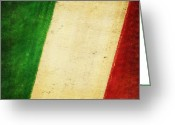 Process Greeting Cards - Italy flag Greeting Card by Setsiri Silapasuwanchai