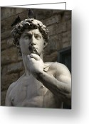 David Greeting Cards - Italy, Florence, Statue Greeting Card by Keenpress