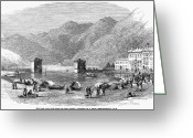 Lake Como Greeting Cards - Italy: Lake Como, 1859 Greeting Card by Granger