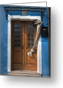 Drapery Greeting Cards - Italy old door Greeting Card by Joana Kruse