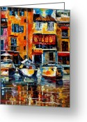 Europe Painting Greeting Cards - Italy Venice Greeting Card by Leonid Afremov