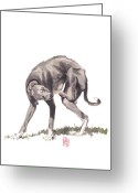 Dog Prints Greeting Cards - Itchy Italian Greeting Card by Debra Jones