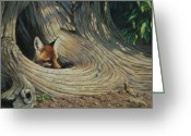 Tree Greeting Cards - Its a Big World Out There Greeting Card by Crista Forest