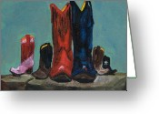 Cowboy Boots Greeting Cards - Its A Family Tradition Greeting Card by Frances Marino