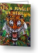  Jungle Greeting Cards - Its a Jungle  Greeting Card by JQ Licensing