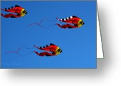 Clayton Photo Greeting Cards - Its A Kite Kind Of Day Greeting Card by Clayton Bruster
