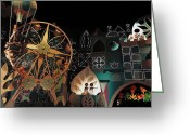 Disneyland Greeting Cards - Its a Small World Greeting Card by Benjamin Yeager