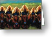 Western Pastels Greeting Cards - Its All Bull Greeting Card by Frances Marino