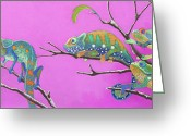 Tropical Island Pastels Greeting Cards - Its All Just an Illusion Greeting Card by Tracy L Teeter