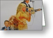 Dolly Parton Greeting Cards - Its Country - 5 Greeting Card by Cliff Spohn