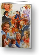 Dolly Parton Greeting Cards - Its Country 1 Greeting Card by Cliff Spohn