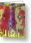 Lennon Mixed Media Greeting Cards - Its Easy If You Try Greeting Card by Robert Wolverton Jr