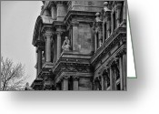 City Hall Greeting Cards - Its in the Details - Philadelphia City Hall Greeting Card by Bill Cannon