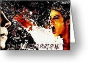 Michael Jackson Greeting Cards - Its Just Another Part Of Me  Greeting Card by Mandy Thomas