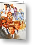 Ray Charles Greeting Cards - Its Rock And Roll 3 Greeting Card by Cliff Spohn