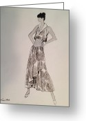 Residential Drawings Greeting Cards - Its Sarong Its Right Greeting Card by Sarah Parks