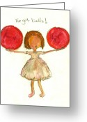 Little Girls98 Greeting Cards - Ive Got Balls Greeting Card by Ricky Sencion