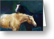 Horse Art Greeting Cards - Ive Got Your Back Greeting Card by Frances Marino
