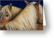 Colored Pencil Greeting Cards - Ive Got Your Back Greeting Card by Pat Erickson