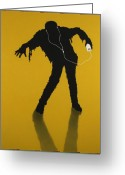 Silhouette Greeting Cards - iZombie Greeting Card by James W Johnson