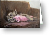 Cairn Terrier Greeting Cards - Izzaroo  Greeting Card by Lori Quarton