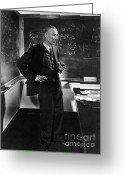 Quantum Mechanics Greeting Cards - J. Robert Oppenheimer, American Greeting Card by Science Source