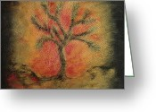 Kelso Greeting Cards - J-Tree Greeting Card by Bonnie Kelso