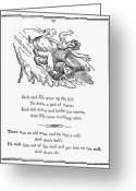 1833 Greeting Cards - Jack And Jill, 1833 Greeting Card by Granger