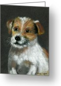 Dogs Pastels Greeting Cards - Jack Greeting Card by Arline Wagner