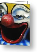 Clowns Portrait Greeting Cards - Jack came over for a visit Greeting Card by Marcus Hammerschmitt