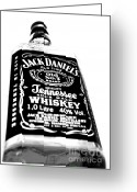 Jack Daniels Greeting Cards - Jack Daniels Greeting Card by Emma Mawson