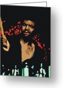 Drum Sticks Greeting Cards - Jack DeJohnette Greeting Card by Walter Neal