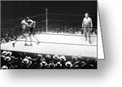 Referee Greeting Cards - Jack Dempsey (1895-1983) Greeting Card by Granger