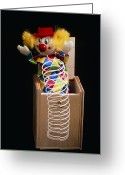 Jack-in-the-box Greeting Cards - Jack-in-the-box Greeting Card by Martyn F. Chillmaid