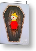 Jack-in-the-box Greeting Cards - Jack In The Box Greeting Card by Ricky Sencion