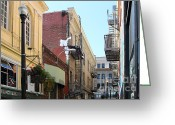 Little Italy Greeting Cards - Jack Kerouac Street San Francisco Greeting Card by Wingsdomain Art and Photography