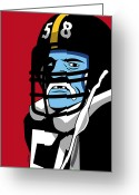 Team Greeting Cards - Jack Lambert Greeting Card by Ron Magnes