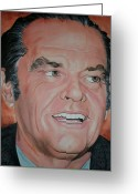 The Nest Painting Greeting Cards - Jack Nicholson Greeting Card by Timothe Winstead