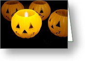 Lynnette Johns Greeting Cards - Jack O Lantern Greeting Card by Lynnette Johns