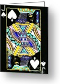 Playing Cards Greeting Cards - Jack of Spades - v2 Greeting Card by Wingsdomain Art and Photography