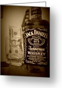 Jack Daniels Greeting Cards - Jack  Greeting Card by Rebecca Pruett