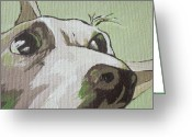 Hyper Greeting Cards - Jack Russells Never Stay Still Greeting Card by Sandy Tracey