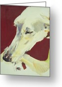 Hounds Greeting Cards - Jack Swan I Greeting Card by Sally Muir