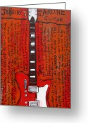 Iconic Guitars Greeting Cards - Jack Whites Airline JB Hutto Greeting Card by Karl Haglund