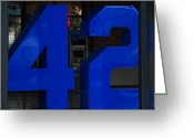 N.y. Mets Greeting Cards - Jackie Robinson 42 Greeting Card by Rob Hans